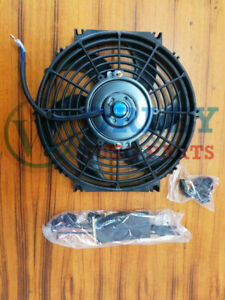 QLD Universal 12 inch 12V volt Electric Cooling Fan Thermo Fan + Mounting kits