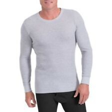 Fruit of the Loom Men's Classic Thermal Underwear Top, Small, Gray