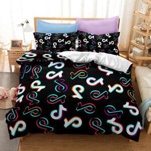 3D Hot Tik Tok Bedding Set Duvet Qulits Cover Comforter Cover Pillow Case