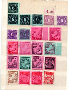 SBZ Mecklenburg 1945 Wertziffern Nr.8-19 Posten 22 Stück postf.