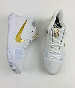 Nike Kyrie 3 III Finals Mens Size 12 White Gold 852395-902 Irving Basketball