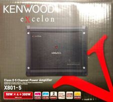 KENWOOD EXCELON X801-5 700 WATTS RMS 50 WATTS X 4 + 500 WATTS X 1 3 CHANNEL 800W