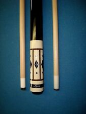 Meucci Pool Cue, Four Point Cue with Black Dot Shaft & Unknown 13mm Shaft
