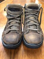 Women's American Eagle Brown Leather Hiking Outdoor Ankle Boots Size 8 Eur 38