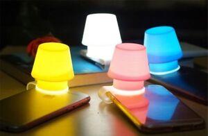 Phone Lampshade Holder Bookmark Silicone Mini Mobile Night Light Flashlight NEW