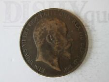 1902 ONE 1 Lg PENNY! Vintage GREAT BRITAIN coin: copper composition     IS314