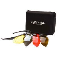 Eyelevel Interactive Shooting Glasses 4 Lens Optical Insert UV400 Protect Safety