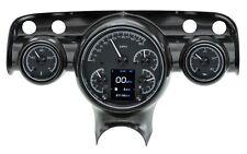 Dakota Digital 57 Chevy Car Customizable Gauge System Kit Black Alloy HDX-57C-K