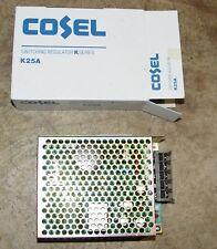 NEW COSEL power supply - 5V, 5 AMP, 39 Watts - K25AU-5  (K25A)