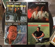 Rare Lot Of 4 HARRY BELAFONTE LP's Many Moods Campus My Lord Porgy & Bess VG