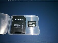 SanDisk 128GB Micro SD Class10 Memory Card ImageMate PLUS A1  adapter