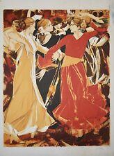 Saito SABURO - Lithographie originale signée - Flamenco