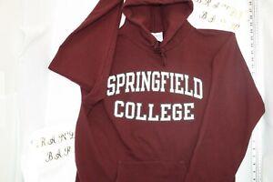Vintage Champion Springfield College Hoodie Sweatshirt Size