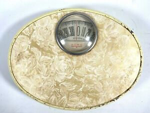 1950s RETRO BORG BATHROOM SCALE vintage weight weighing scale MID-CENTURY MODERN