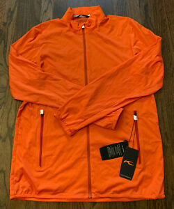 NWT Kjus Dorian Full Zip Golf Jacket Windbreaker Orange Mens Size XL 54 $219