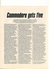 ORIGINAL 1983 AUSTRALIAN 4 PAGE FEATURE ON THE VH HOLDEN COMMODORE SL/E 5 SPEED