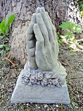 """Latex only mold praying hands cement concrete plaster mould 10"""" x 7"""" x 3"""""""