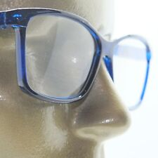 4b4fedcb6d4 Reading Glasses Simple Large Square Frame Office Smart Sapphire Blue +1.75  Lens