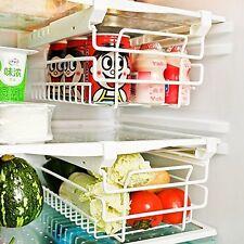 Refrigerator Organizer Basket Fridge Sliding Shelf Freezer, Space Saver and