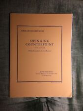 A. Ghidoni Swinging counterpoint flûte clarinette cor basson partition Leduc