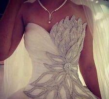 ☆Robe de mariée mariage soirée wedding evening dress 32 34 36 38 40 42 44 46 48