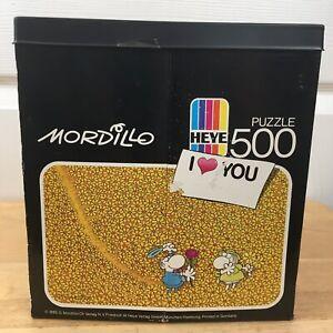 """Heye Mordillo Puzzle """"I Love You"""" 500 Pieces Mordillo Puzzle """"I Heart You"""""""
