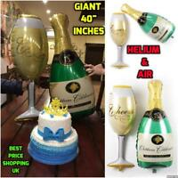 Giant Champagne Glass Flute Balloon celebration Party Prosecco Birthday Weding