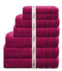 7 PCE 575GSM EGYPTIAN COTTON TOWEL SET 2x BATH / HAND / FACE TOWELS 1x MAT PINK