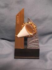 Cheerleader trophy resin megaphone Pdu 68506Gs