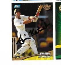 Simon Katich (Australia) signed Topps ACB Gold Cricket Card + COA