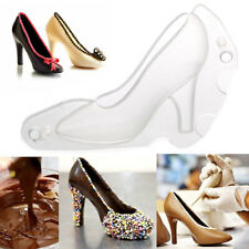 3D High Heel Shoe Type Chocolate Mold Candy Cookies Baking Making Mould Decor