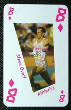 1 x playing card London 2012 Olympic Legends Steve Ovett Athletics 8D