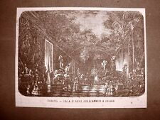 Torino nel 1866 Armeria Reale Sala d'armi Piemonte