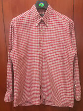 Pierre Cardin Casual men's shirt, cotton, berry red, button up shirt, size L