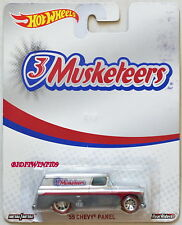 HOT WHEELS POP CULTURE 3 MUSKETEERS '55 CHEVY PANEL REAL RIDERS