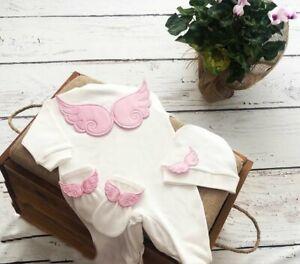 Newborn baby Clothes Blanket Angel Wings Set