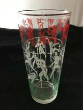 Vintage Peanut butter Glass Football Players & Marching Band B-7