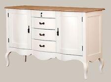Kommode Sideboard Fichte massiv ParisDM92.1 Vintage Designer Landhaus weiß lack