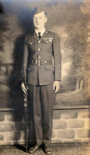 1929 Rppc Id'd Garland Read, Jr. Rotc Uniform 15 Years Old Real Photo Postcard