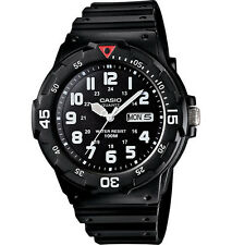 Casio MRW200H-1BV, Analog Watch, Black Resin Band, Day/Date, 100 Meter WR