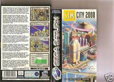 SIM CITY 2000 SEGA SATURN RARE BUILD OWN CITY