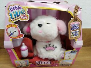 Little Live Pets Tiara White Electronic Puppy Toy
