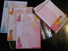 Princess Peach Daisy Rosalina HALF STATIONARY set paper envelopes Mario Bros