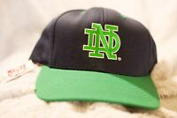 Vintage Notre Dame Fighting Irish Snap Back Hat 90s New With Tags