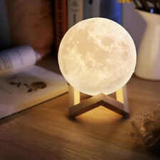 Great 3D USB LED Magical Night Moonlight Table Desk Moon Lamp Home Decor