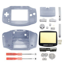 Replacement Clear Purple Shell + Screen Len for Nintendo Gameboy Advance GBA