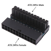 ATX 24Pin 90 degree Power Plug Adapter Mainboard Motherboard Power ConnectorsVvV