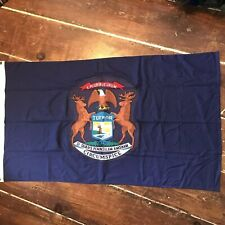 Vintage Michigan State Flag Cloth Dated July 1976 Large Patch