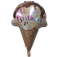 Happy birthday party decor ice cream balloon wedding party supplies toys  TEUS