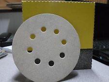 """Klingspor Sandpaper  5""""x8 Hole, Hook & Loop (kling on), Sanding Discs, 80grit"""